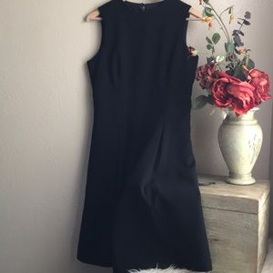 Zara Basic Womens Wool Pleated Black Dress Medium